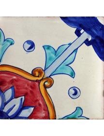 Azulejo 02AS-CRISANTEMO15AZ