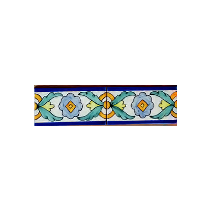 Cenefa 01ag ce014102 azulejos pintados a mano for Cenefas ceramica